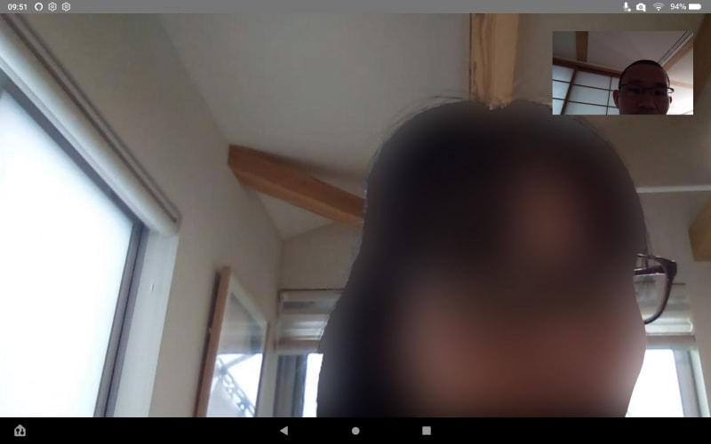 ビデオ通話で2階と1階との間ですぐにやりとり