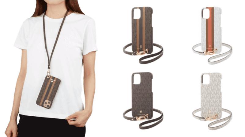 (左)Slim Wrap Case with Neck Strap(右)Slim Wrap Case with Hand Strap