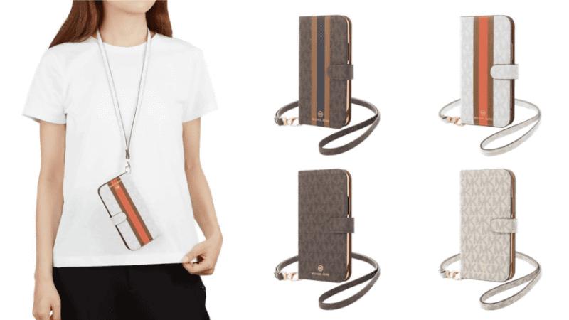 (左)Folio Case with Neck Strap(右)Folio Case with Hand Strap