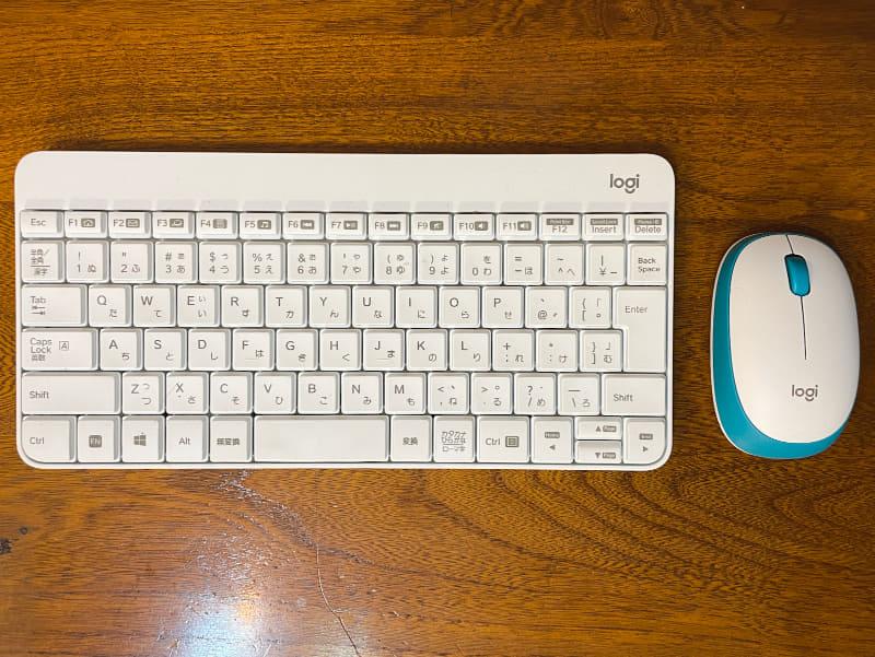 「ロジクール ワイヤレスコンポ MK245 Nano」。無線キーボードとマウスのセットです。
