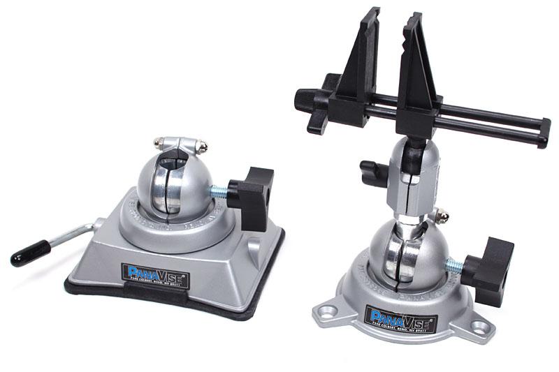 Model:380 Vacuum Baseと、Model:305 Low-Profile Base + Model:203 PV Jr. Head。前述のとおり、ヘッドを別のベースに差し替えて使える