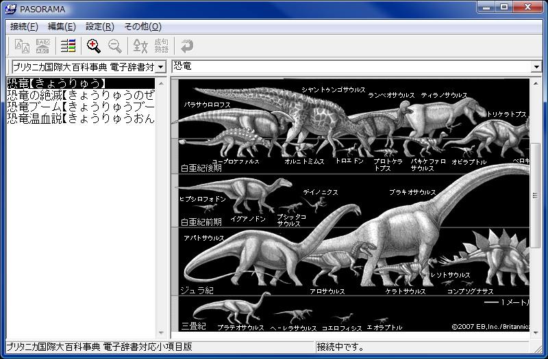 PASORAMAソフトウェアを使えば、SR-G6100単体でできることの多くがパソコン上でも行えるようになる。図版の表示なんかもこのとおり