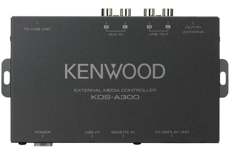 KOS-A300のハイダウェイユニット。コレに音源(ポータブルオーディオプレーヤーなど)、ディスプレイ、コントロールノブを接続する。インターフェイス製品だけあって入出力系統は豊富だ