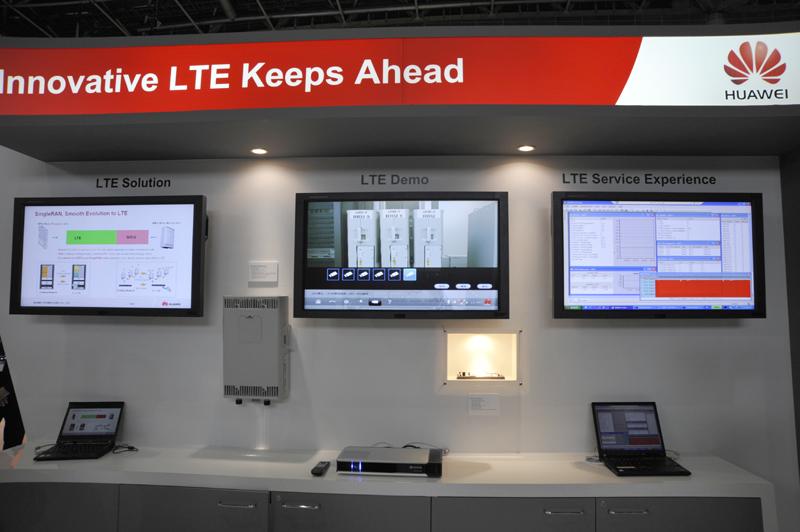 総合通信機器メーカーであるHuaweiはLTE関連のデモも実施