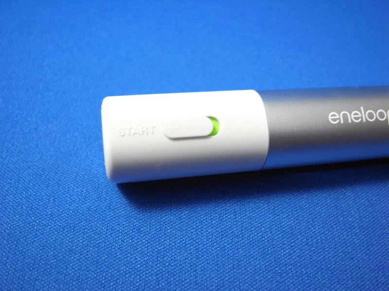 スライド式スイッチで充電時のON/OFFが可能