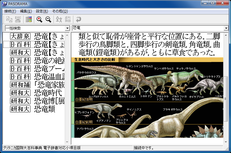 ブリタニカ国際大百科事典の検索結果では、図版がカラー表示されたりする