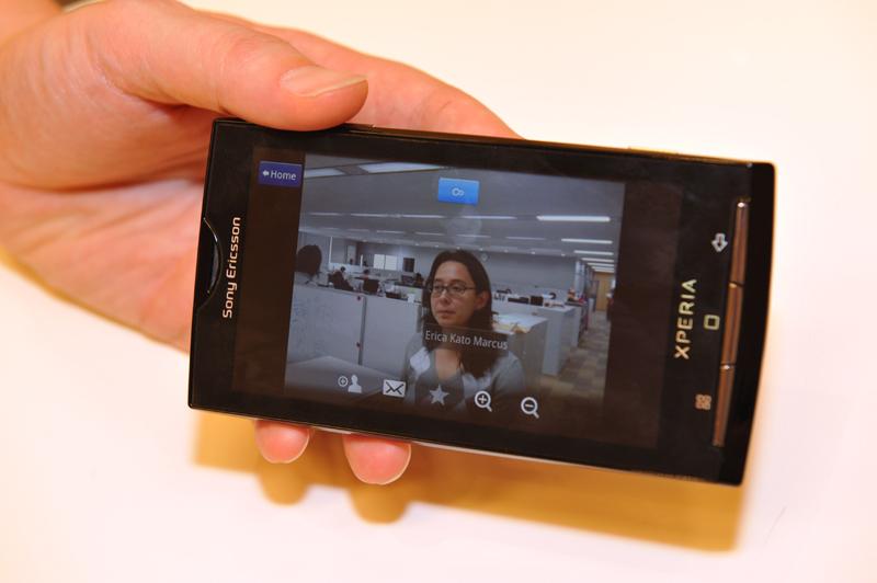 顔認識機能により写真にネームタグを表示できる。