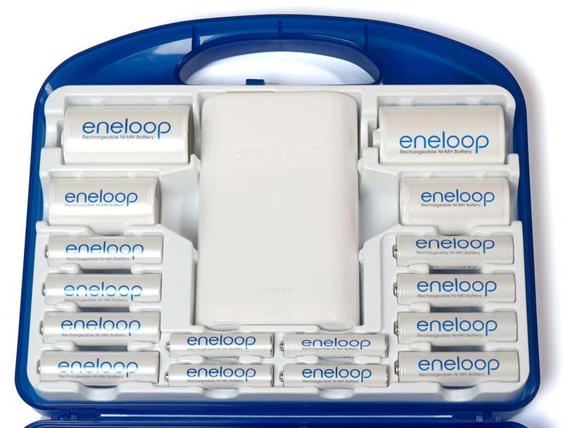 ニッケル水素電池としては容量が若干少なめ。とは言っても昔のニッケル水素電池と比べると十分に大容量だ
