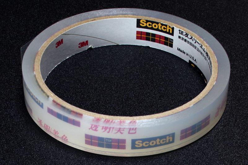 最高に感触がよく使い心地もよく機能性に優れたテープ、3Mの透明美色。透明美色サイコー!! だけど一般的なテープカッターだと切れにくい!?