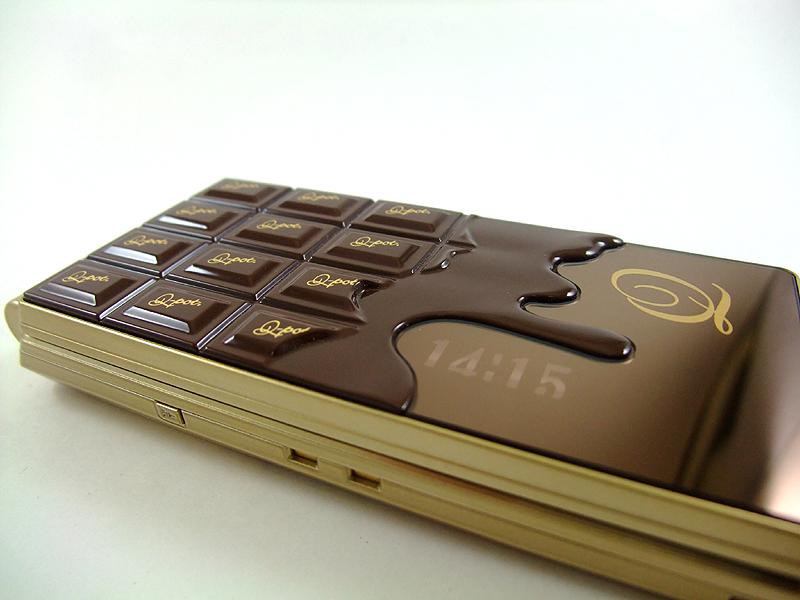 チョコレートが溶けているかのような演出