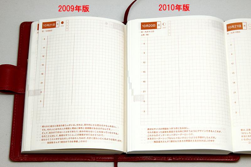 2009年版(左)と2010年版(右)の比較