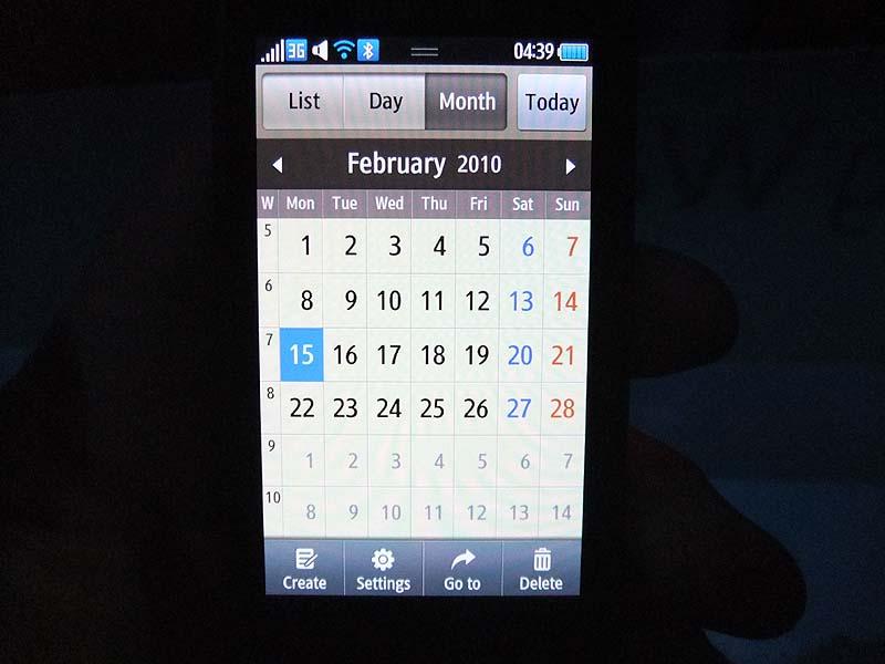 カレンダー機能。GoogleカレンダーやFacebookなどと連携