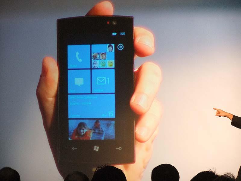 Windows Phone 7 Seriesのメインメニュー