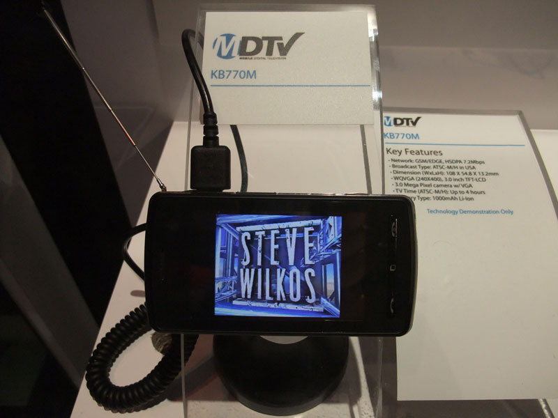 モバイルテレビ対応の「KB770M」