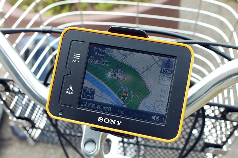 自転車に取り付ければサイクリング向けナビとしても利用可能