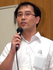 同事業本部の重田大助氏。Linuxエンジニアで、Linux Zaurusの開発から参加している