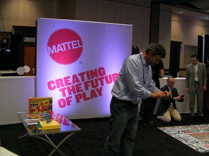 Mattel社のブース