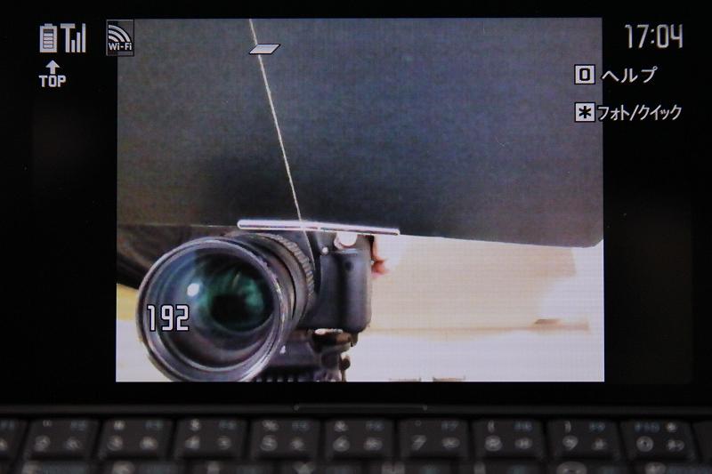 静止画撮影はインカメラのみ