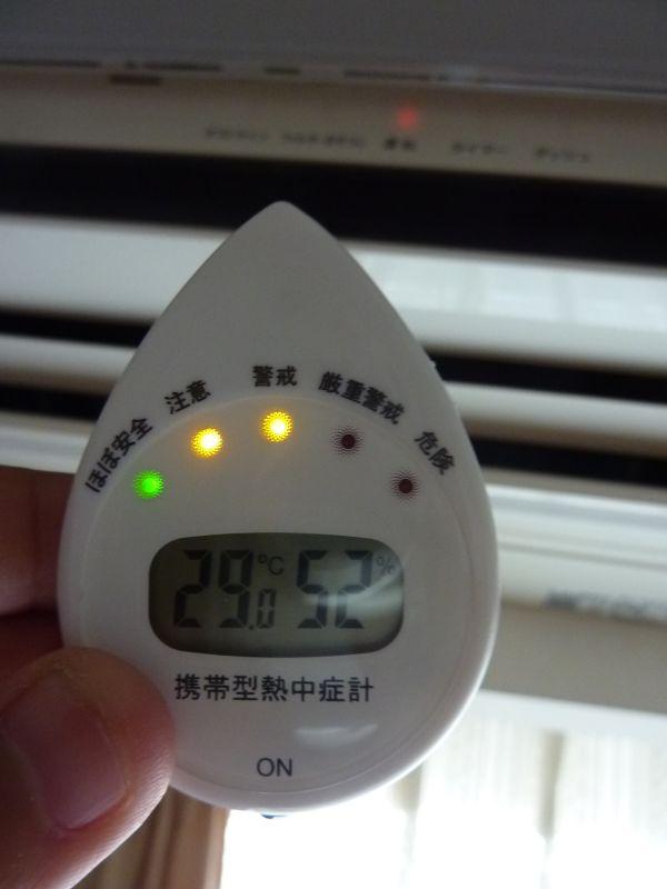 エアコンのある部屋でも「警戒」。部屋でも過度な運動は危険だ