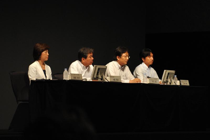 左から岡田氏、大畠氏、中村氏、松本氏