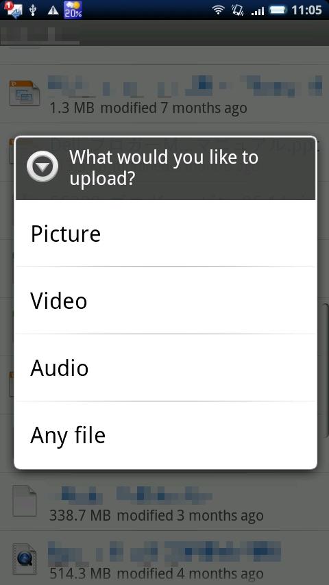 「Any file」でマルチメディア以外のファイルもアップロードできる