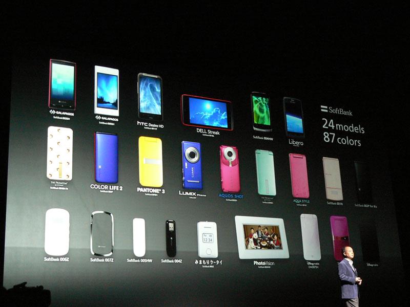 従来型の携帯電話(フィーチャーフォン)も採り揃える