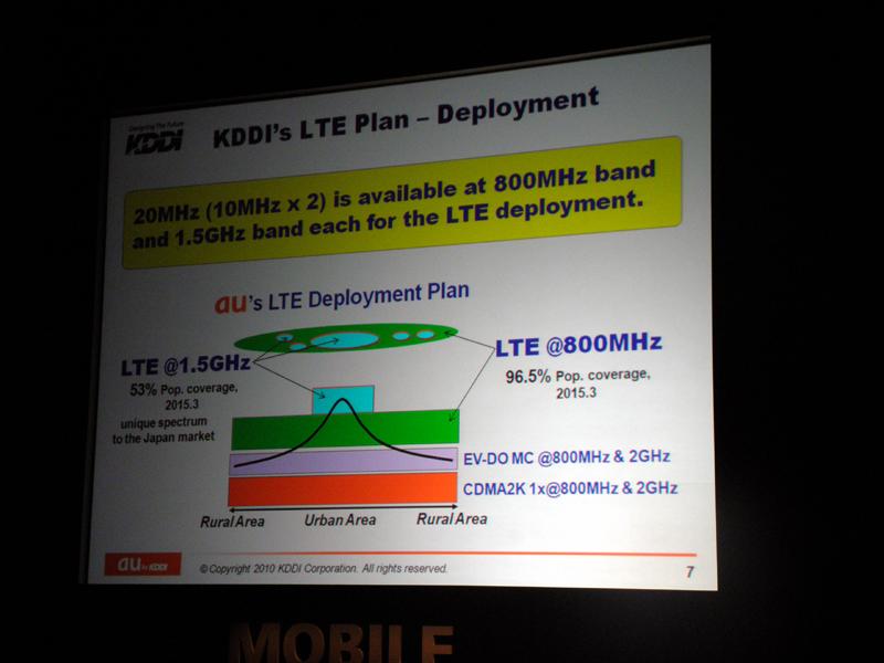 LTEのカバレッジ計画や利用周波数帯を披露
