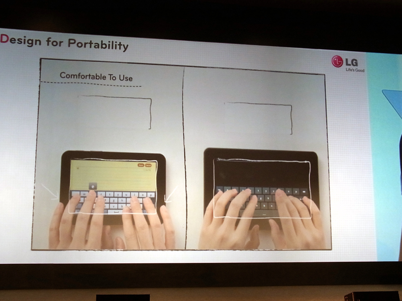 名前こそ出さなかったが、比較対象は「iPad」や「GALAXY Tab」となる