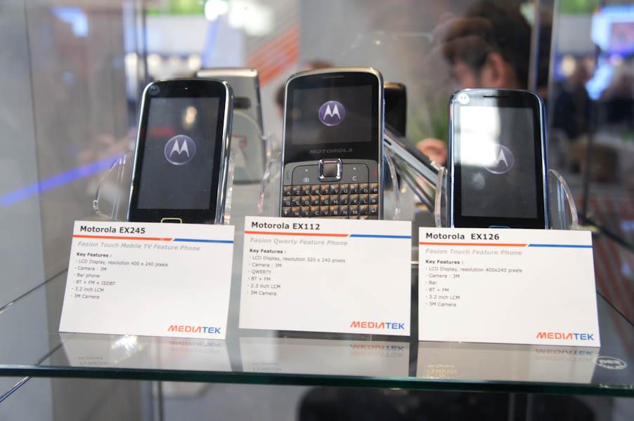 MediaTek製品を使った電話機の一例