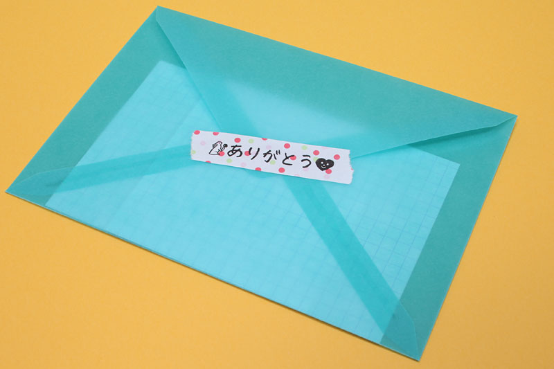 テープは「マスキングテープ風の紙製」。手でちぎれる。ただし感熱紙なので長期使用には不向き