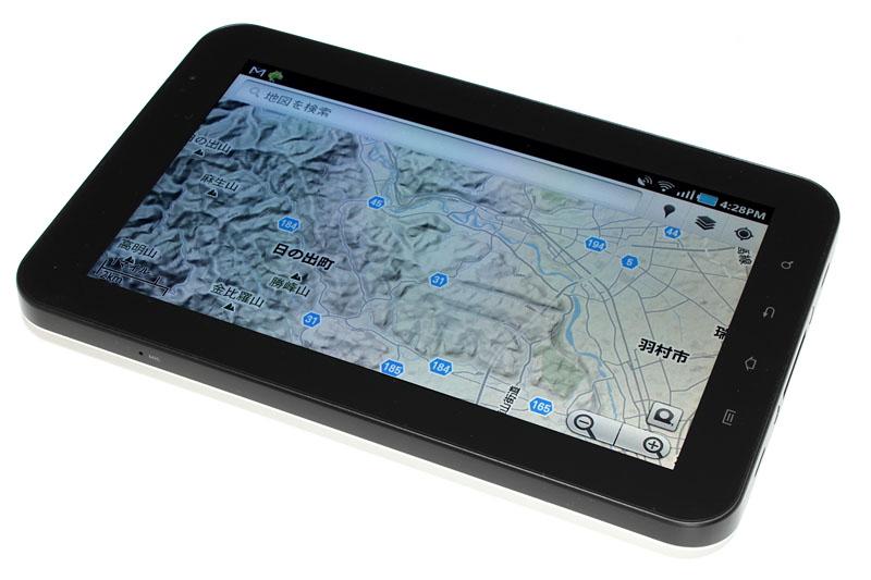 ドコモのGALAXY Tab SC-01C(SAMSUNG製)。約7.0インチ(1024×600ドット)の画面を持つAndroid2.2搭載タブレットだ
