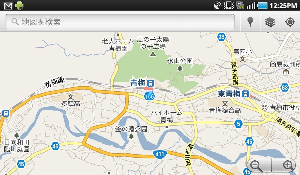 (4)マップアプリを起動。現在位置がわかる