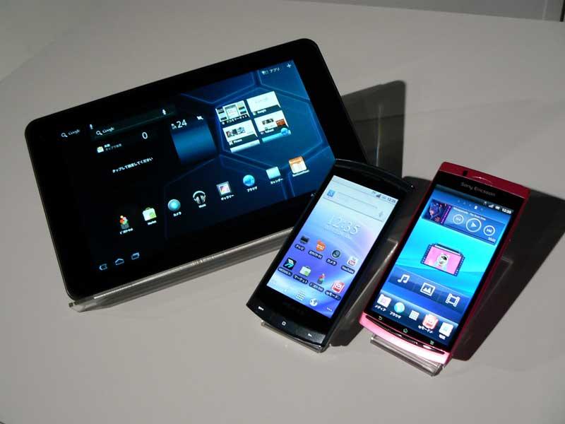 発表されたのはスマートフォン2モデル、タブレット1モデル