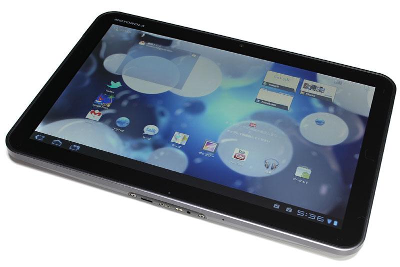 モトローラのAndroid3.0タブレットことXOOM。画面サイズは10.1インチ(解像度は1280×800ドット)。デュアルコアチップのNVIDIA Tegra 2搭載で速いヨ!!