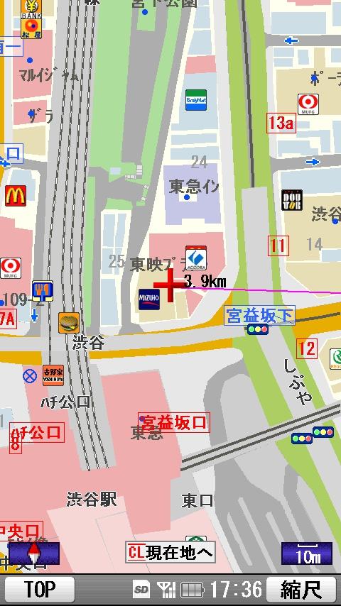 詳細地図画面