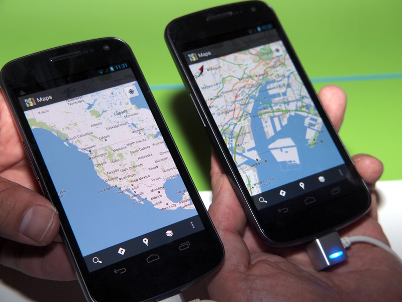 NFCを利用して閲覧中のサイトや地図を送る「Android Beam」