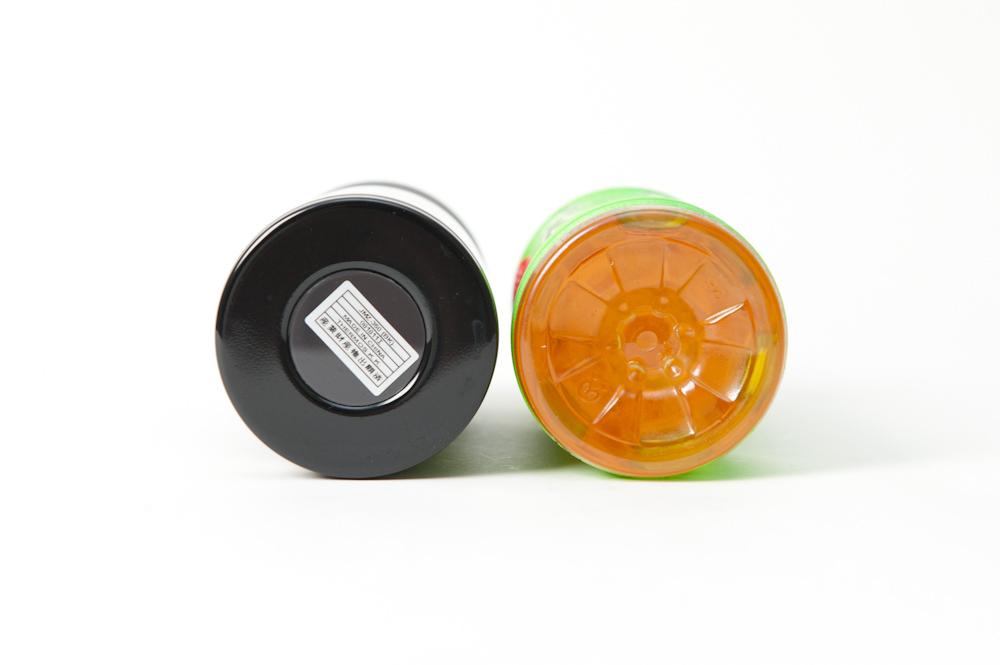 「真空断熱ケータイマグ」(JMZ-350)と500mlペットボトルの比較