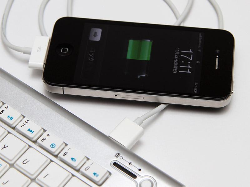 充電は有線となる。約80%の充電が可能