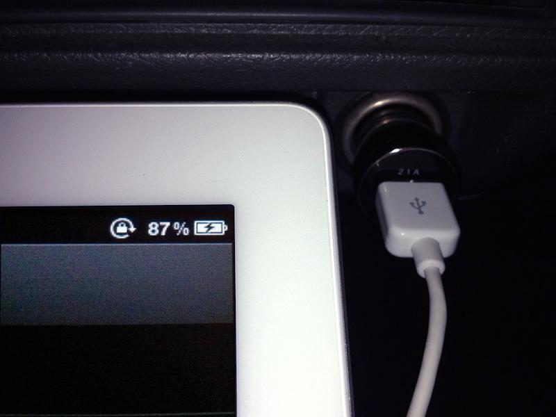 iPad 2をしっかり充電できる