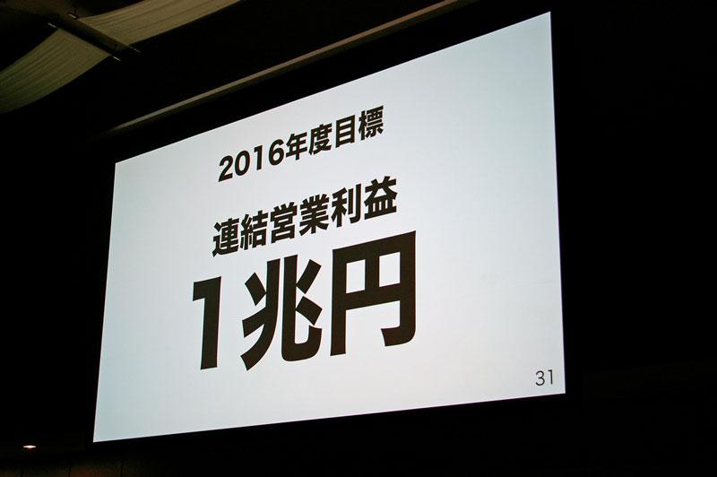2016年度に営業利益1兆円を目指す