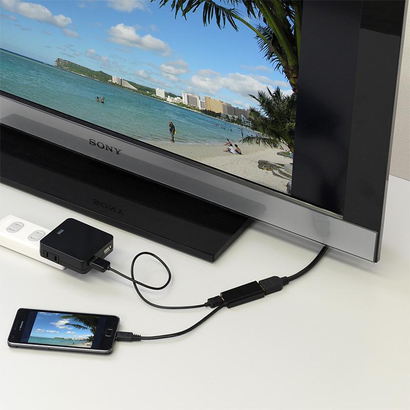 「MHLケーブル HDMI変換アダプタ」利用イメージ