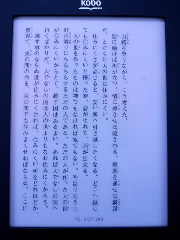 フッター部分にページ数が表示される前提で作成したPDFを表示