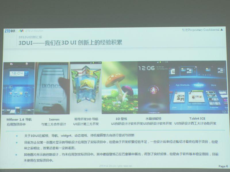 最新のチップセットの技術に対応した3D UI。ニーズに応じたカスタマイズをするために、こうした技術開発を続けている