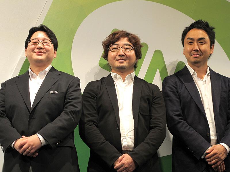 写真左からNHNの舛田氏、森川氏、出澤氏