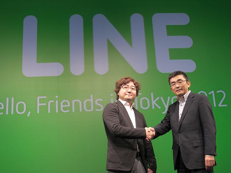 NHN森川氏(左)とKDDI高橋氏(右)