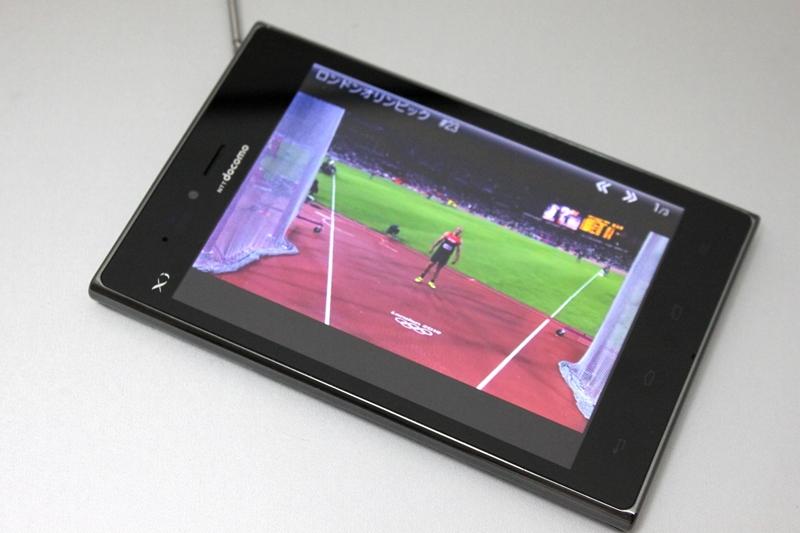 NOTTVでオリンピックを観戦。ワンセグと違って、大画面でも鮮明な画質で視聴できる