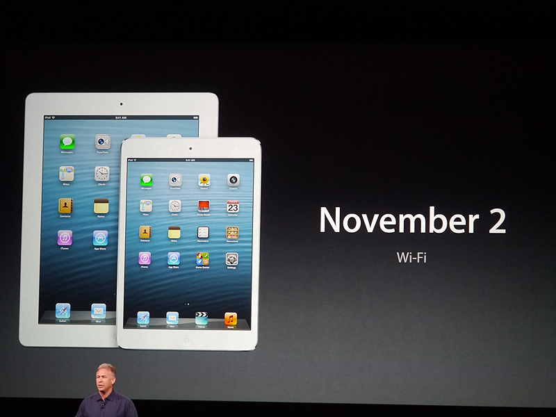 Wi-Fiモデルは11月2日から出荷を開始