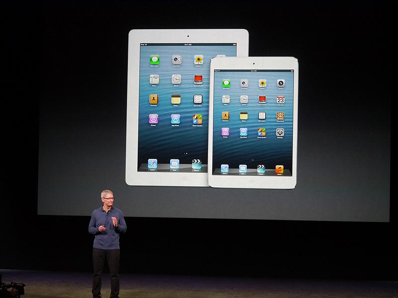 第4世代のiPadやiPad miniについても触れ、年末商戦に向けて最高の商品が揃い、イノベーティブな製品を出すという約束を果たせたと語った