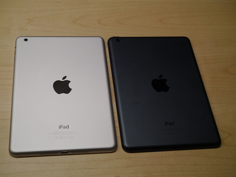 iPad miniの裏面の様子