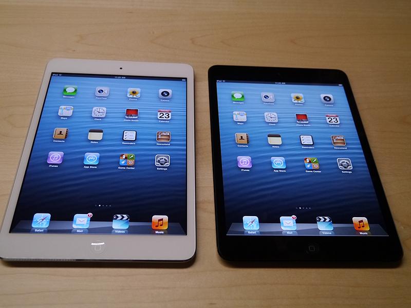 iPad miniは2つのカラーを用意している